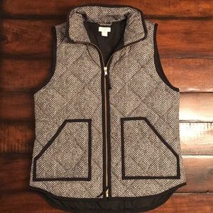 J. Crew Factory Quilted Printed Vest